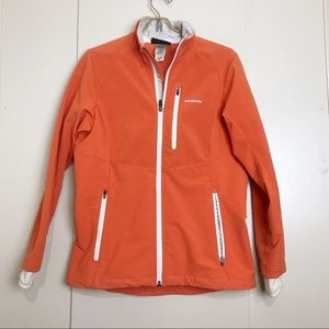 Patagonia orange jacket polartec dry integral